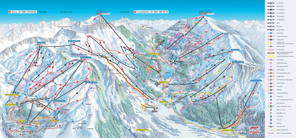 Arosa-Lenzerheide widened skiing area