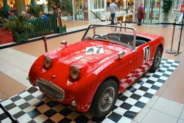 Austin Healey exhibited at the Charmiles Mall in Geneva