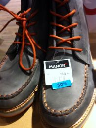 Shoes sold originally for CHF250 but can be found for CHF30 now