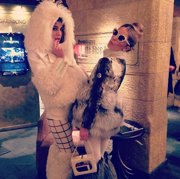 At the Moncler after-ski event in Gstaad