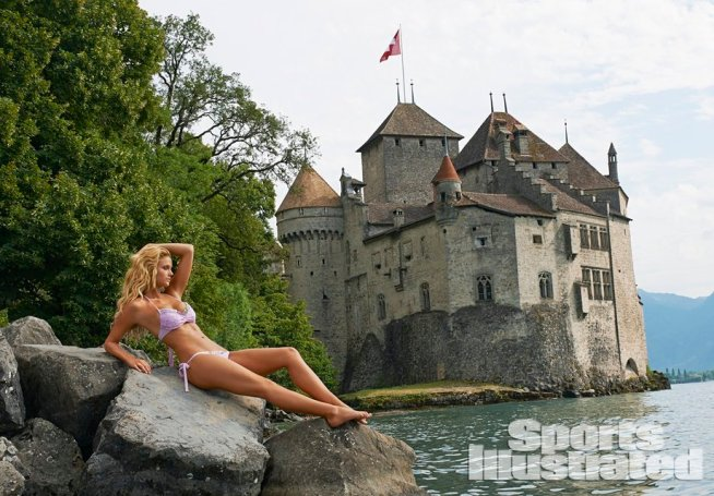 Sports Illustrated Kate Bock Chateau de Chillon
