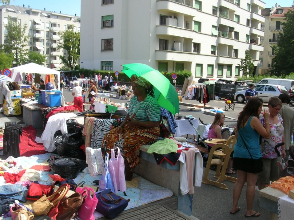 St Jean flea market in Geneva Swittzerland