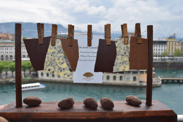 Chocolate treats from the Mandarin Oriental Hotel by Priscilla Pilon, Editor and Publisher of the Weekend in Paris