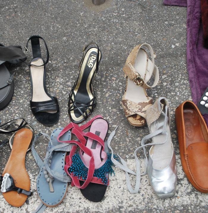 Flea market shoes in Geneva1