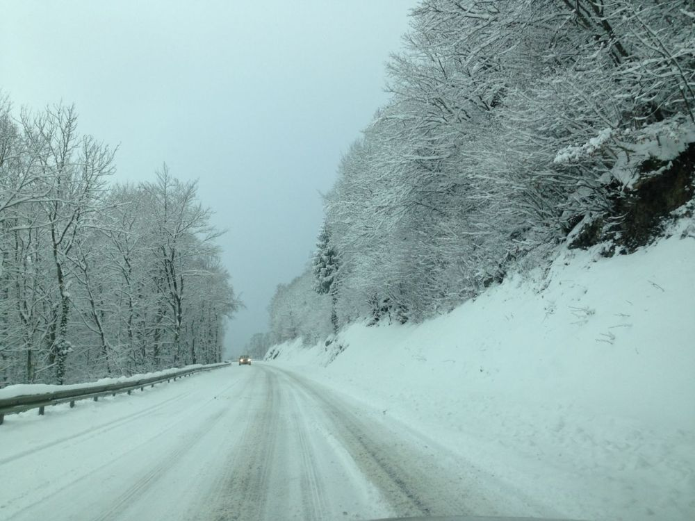 Snow storm over Pays de Gex in France6