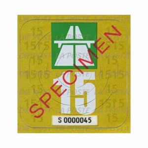 2015 Swiss highway sticker