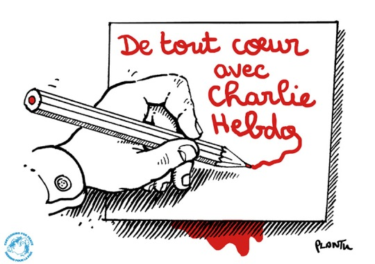 Cartooning for Peace for Charlie Hebdo