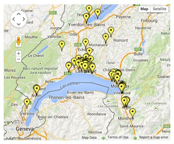 speed cameras around Lake Geneva and canton Vaud, Switzerland