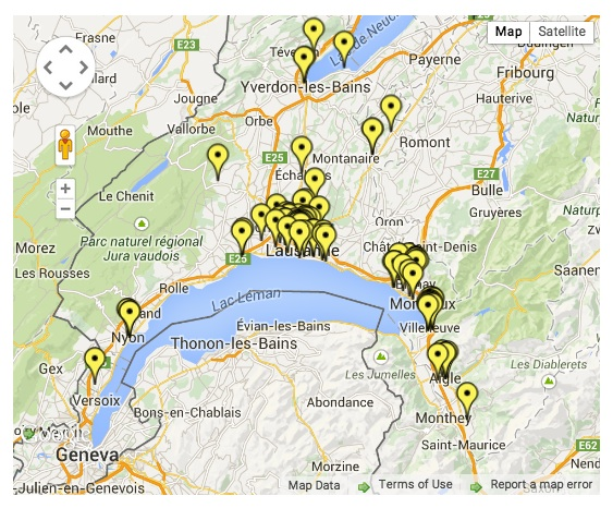 speed cameras around Lake Geneva and canton Vaud, Switzerland