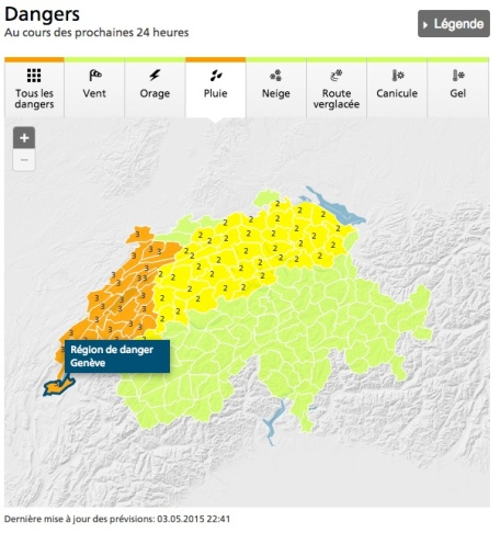 Dangerous conditions for Western Switzerland