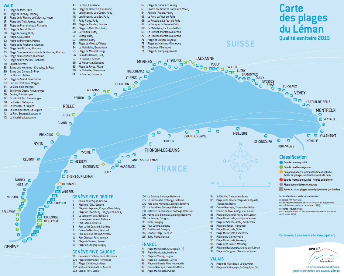 Map Of France Near Geneva.Finding Beaches In Lake Geneva And Avoiding Duck Fleas All About