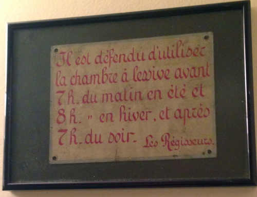 Hand painted French sign