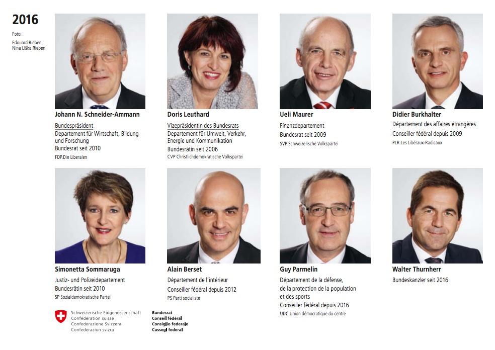 Conozca a quienes manejan el consejo federal de suiza 2016 for Nombre del ministro de interior y justicia 2016