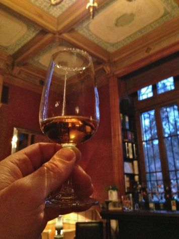 Swiss-made single malt Scotch whiskey at the ancient Schadau Castle.