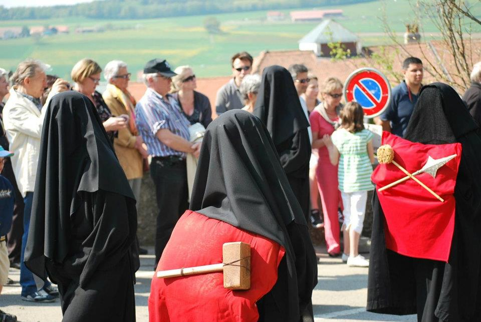 Romont weeping women good friday in switzerland les pleureses de fribourg