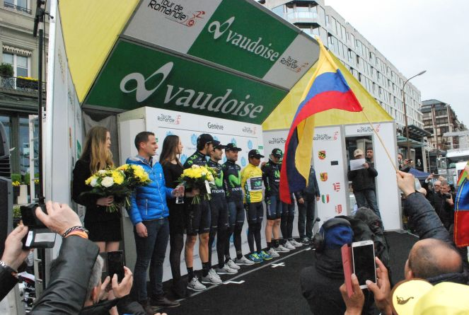 Movistar won the Best Team category at the Tour de Romandie in Switzerland